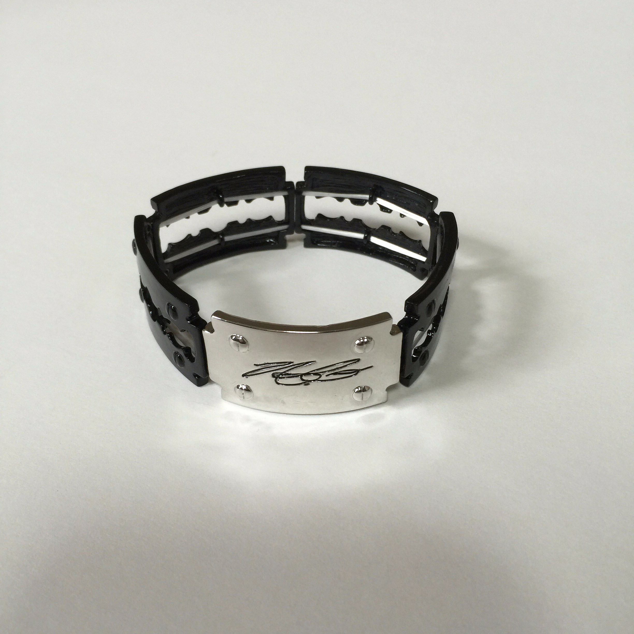 Black Signature Silver Background Bracelet - The Amit Corso Collection